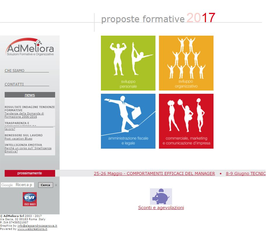Website di Admeliora Srl by Web Creations Web Agency in Pozzuoli - Napoli - Italia