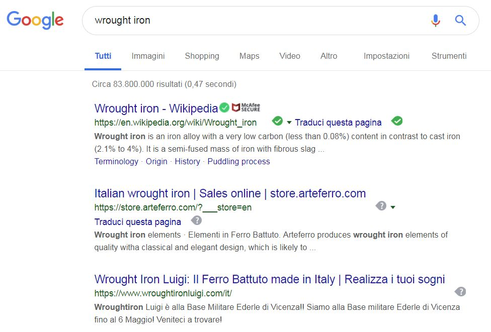 seo indicizzazione sui motori di ricerca web creations pozzuoli napoli